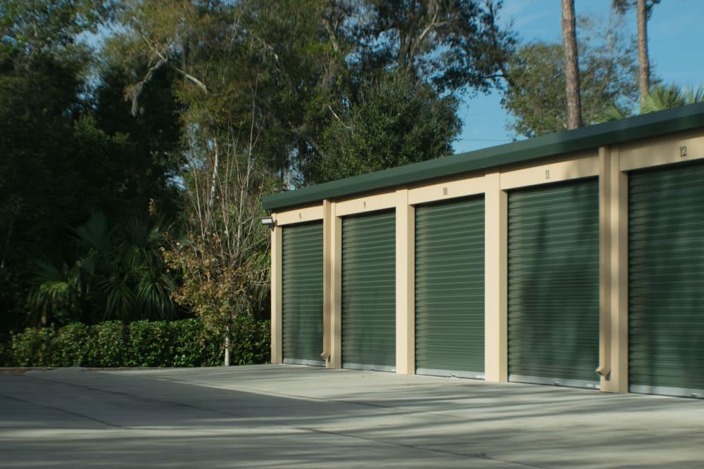 Outdoor storage units at Best American Storage in Ormond Beach, Florida