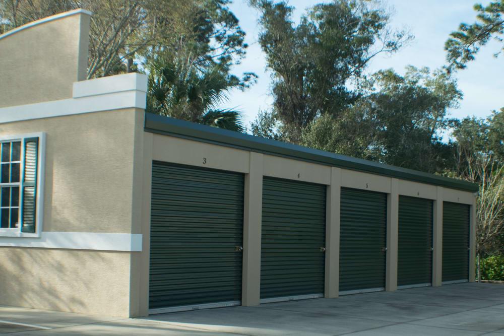 Large outdoor storage units at Best American Storage in Ormond Beach, Florida