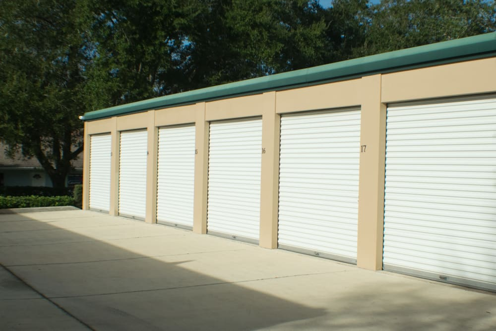 Small to medium storage units at Best American Storage in Ormond Beach, Florida