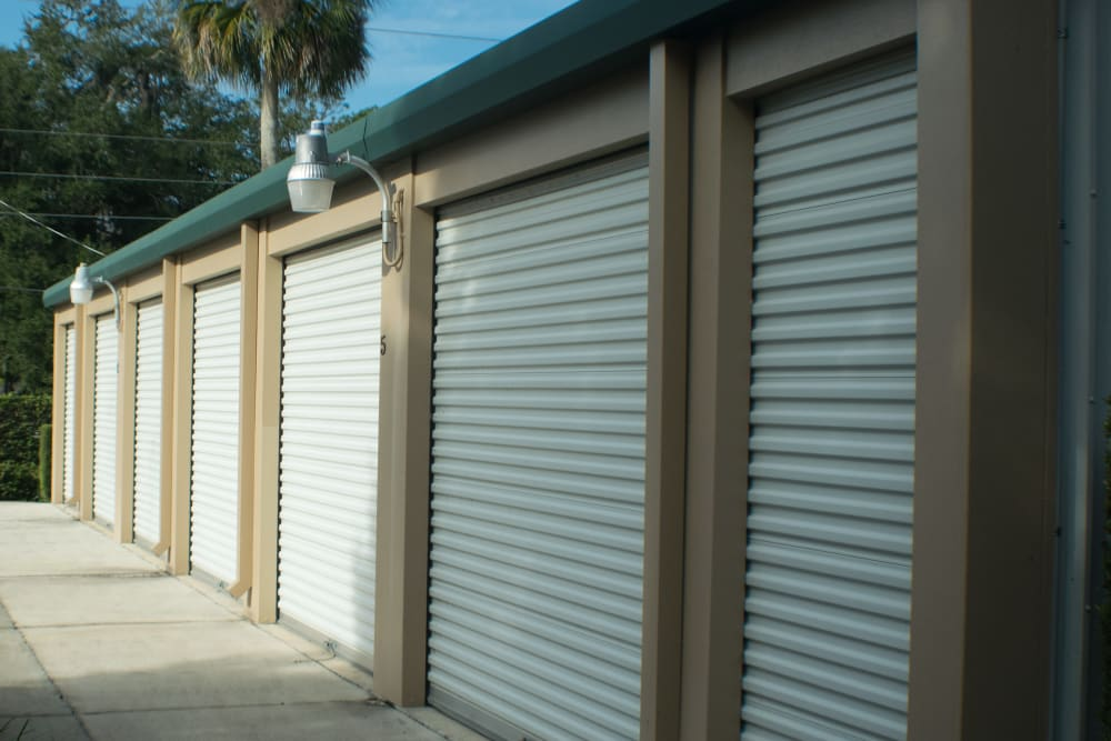 Medium and small storage units at Best American Storage in Ormond Beach, Florida