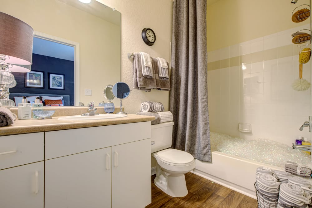 Our Cozy Apartments in Charlotte, North Carolina showcase a Bathroom