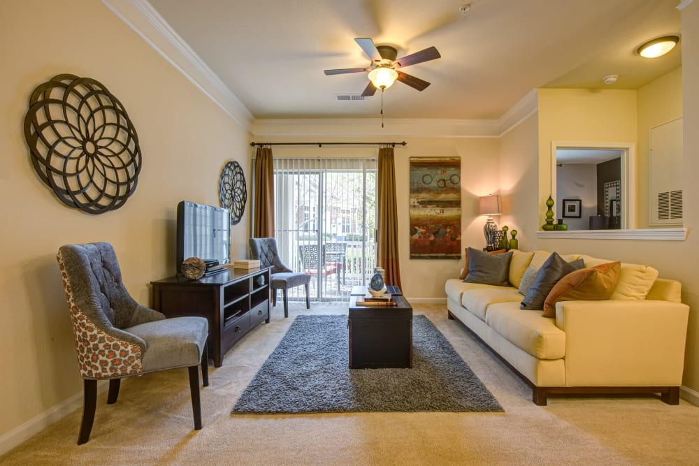 Our Beautiful Apartments in Charlotte, North Carolina showcase a Living Room