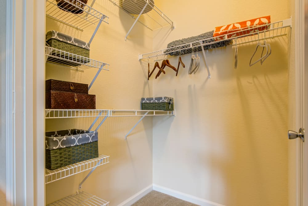 Spacious closet at Preserve at Steele Creek in Charlotte, North Carolina