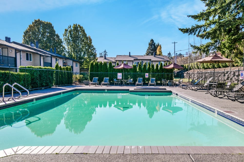 Swimming Pool at Copperstone Apartment Homes in Everett, Washington