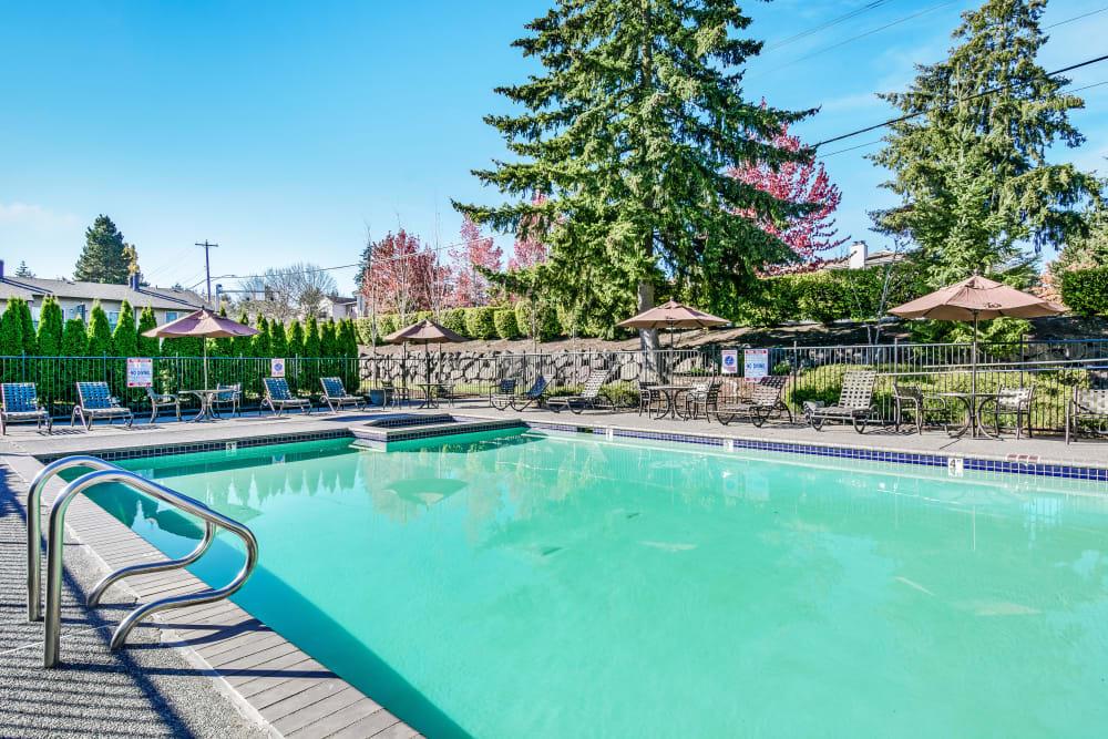 Swimming Pool at Apartments in Everett, Washington