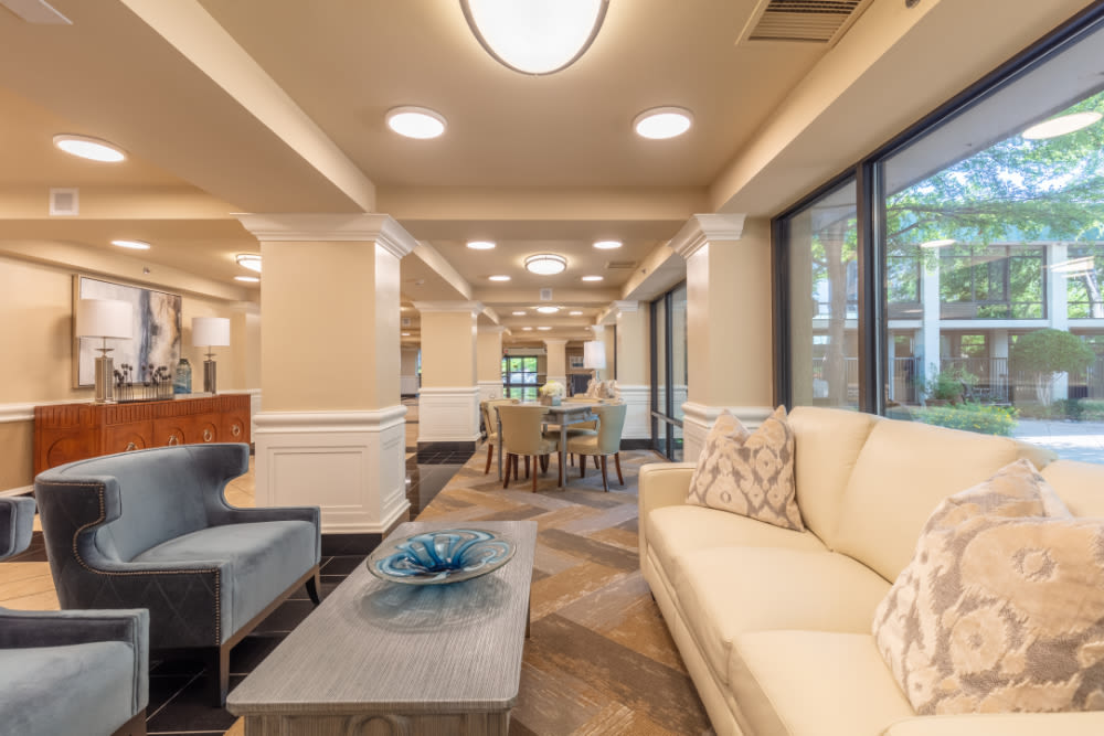 Sofas at Windsor Senior Living in Dallas, Texas