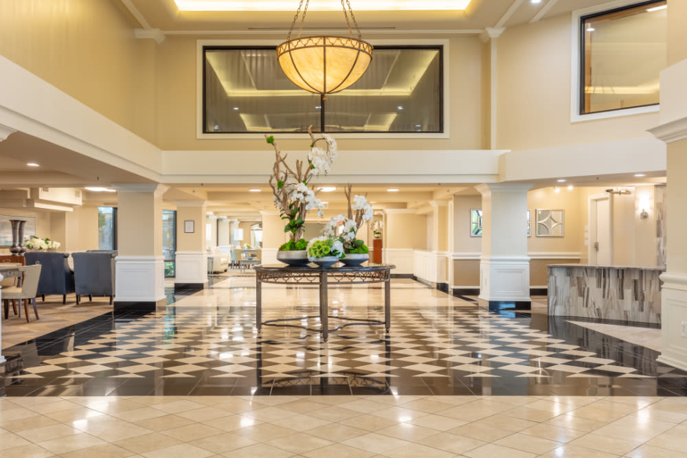 Entrance to Windsor Senior Living in Dallas, Texas