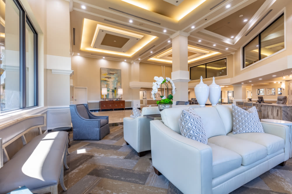 Community area at Windsor Senior Living in Dallas, Texas