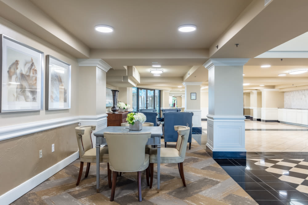 Dining table at Windsor Senior Living in Dallas, Texas
