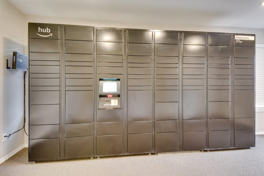 Package Lockers at Copperstone Apartment Homes in Everett, Washington