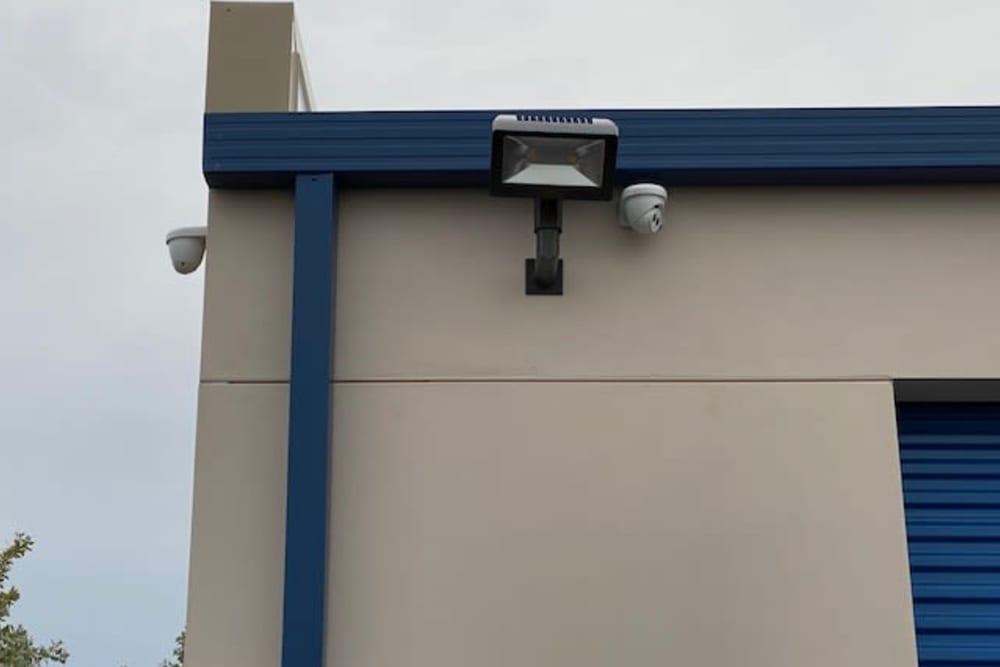 Security cameras at Top Self Storage in Pompano Beach, Florida