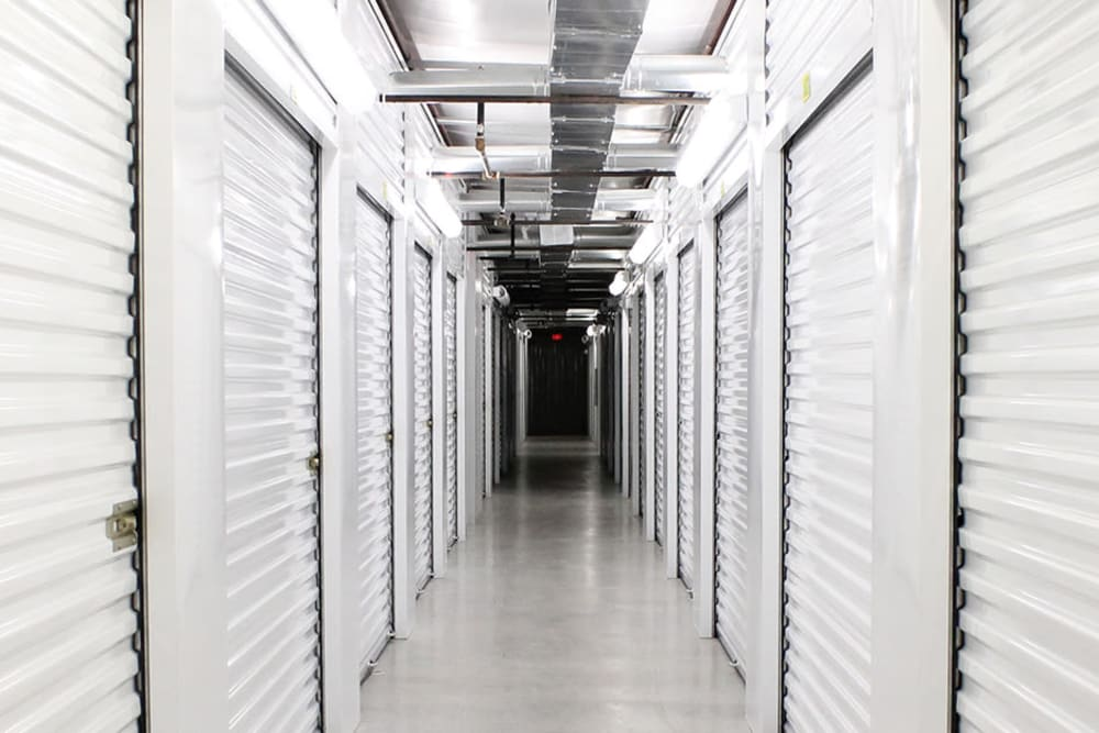 Cliamate-controlled self storage units at StayLock Storage in Simpsonville, South Carolina