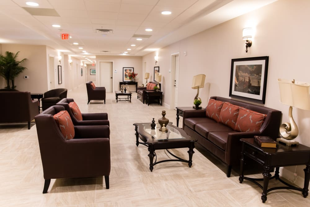 lobby at Inspired Living at Alpharetta in Alpharetta, Georgia