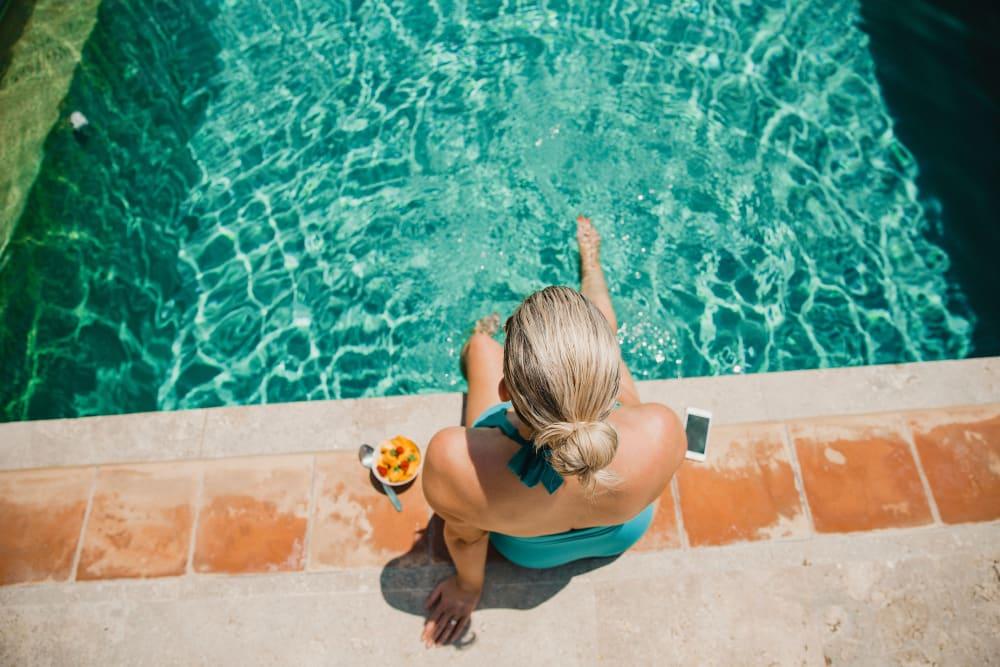 Woman at the pool at Avilla Gateway in Phoenix, Arizona