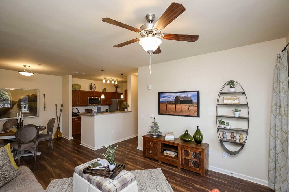 Living room model at Commonwealth at 31 in Spring Hill, Tennessee