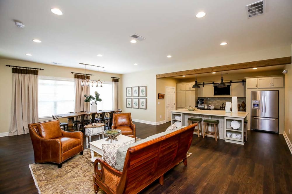 Living room layout at Commonwealth at 31 in Spring Hill, Tennessee