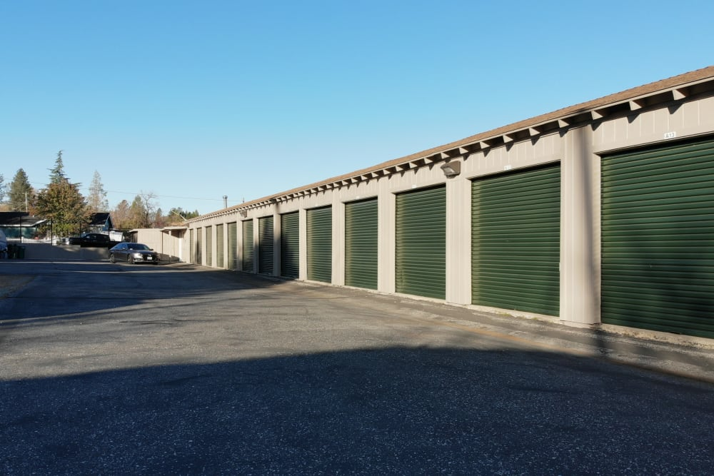 Drive up units at Superior Self Storage in Grass Valley, California