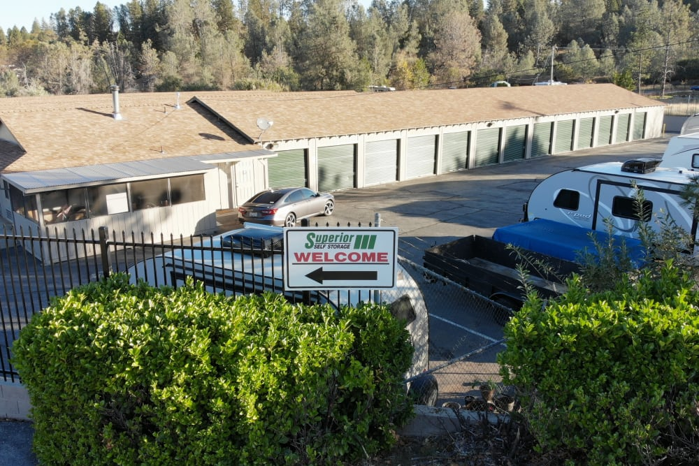 Easy drive up access at Superior Self Storage in Grass Valley, California