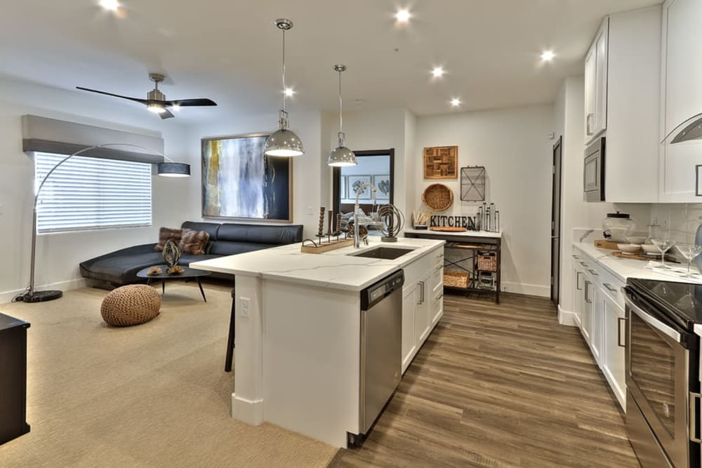 Kitchen & Living Room at The Aviator in Henderson, Nevada