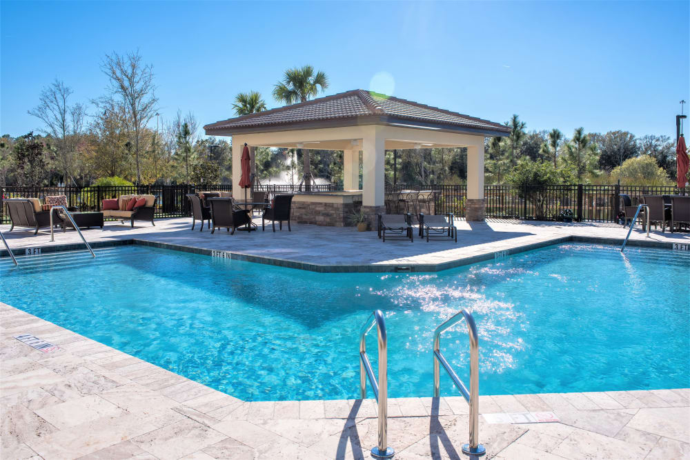 Resident pool at Inspired Living Kenner in Kenner, Louisiana.