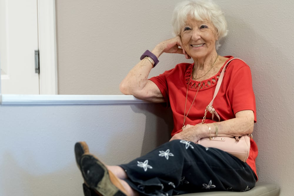 A resident relaxing at Inspired Living Tampa in Tampa, Florida