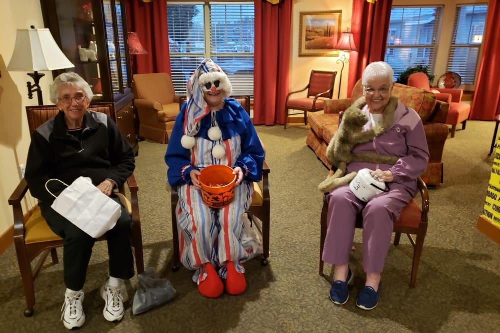 Residents enjoying Halloween at Landings of Oregon in Oregon, Ohio