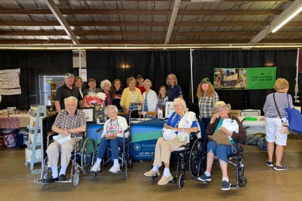 Residents gathered for a photo at Landings of Sidney in Sidney, Ohio
