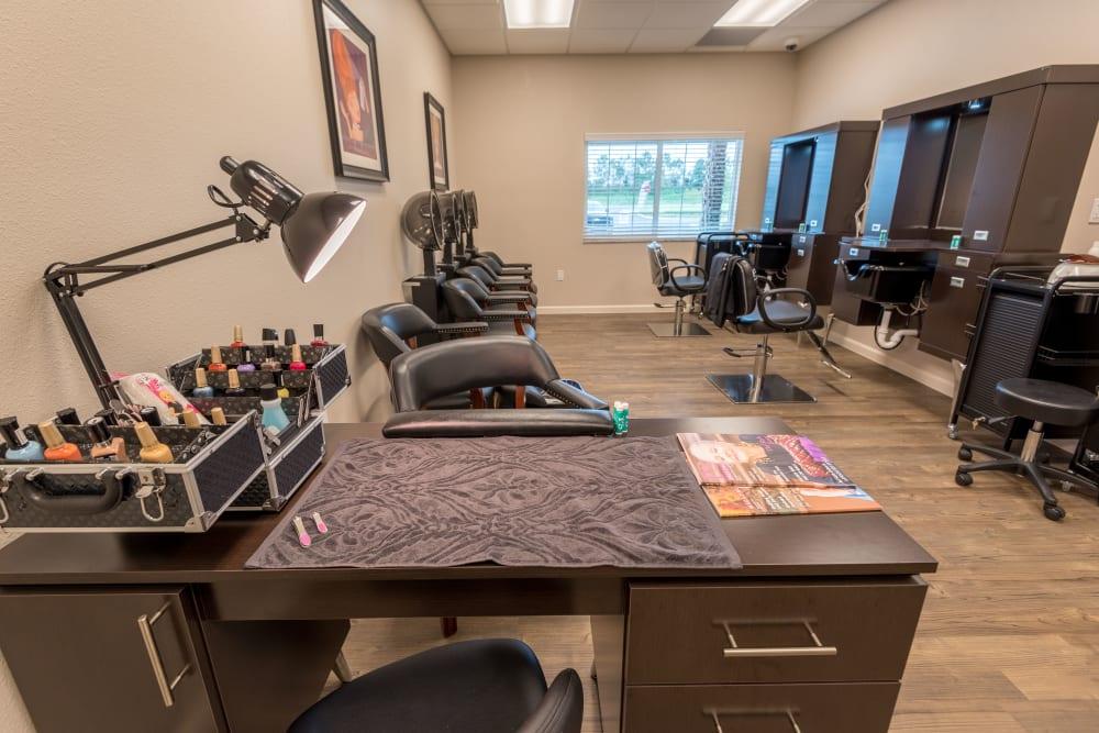 Onsite salon at Inspired Living at Lakewood Ranch in Bradenton, Florida.