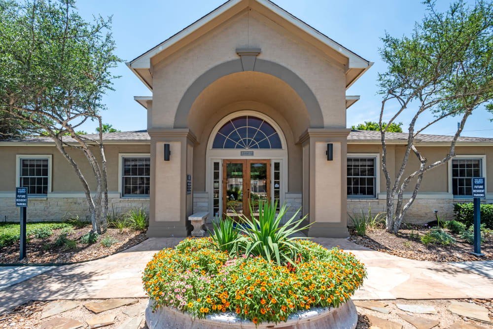 Clubhouse entrance at Salado Springs Apartments