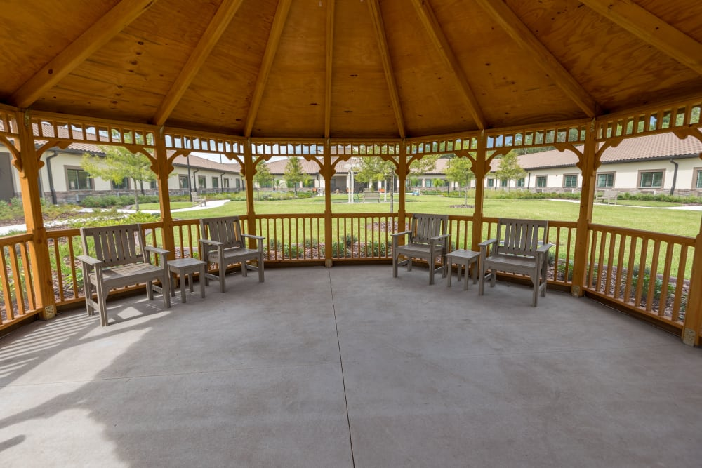 Covered gazebo porch Inspired Living in Ocoee, Florida.
