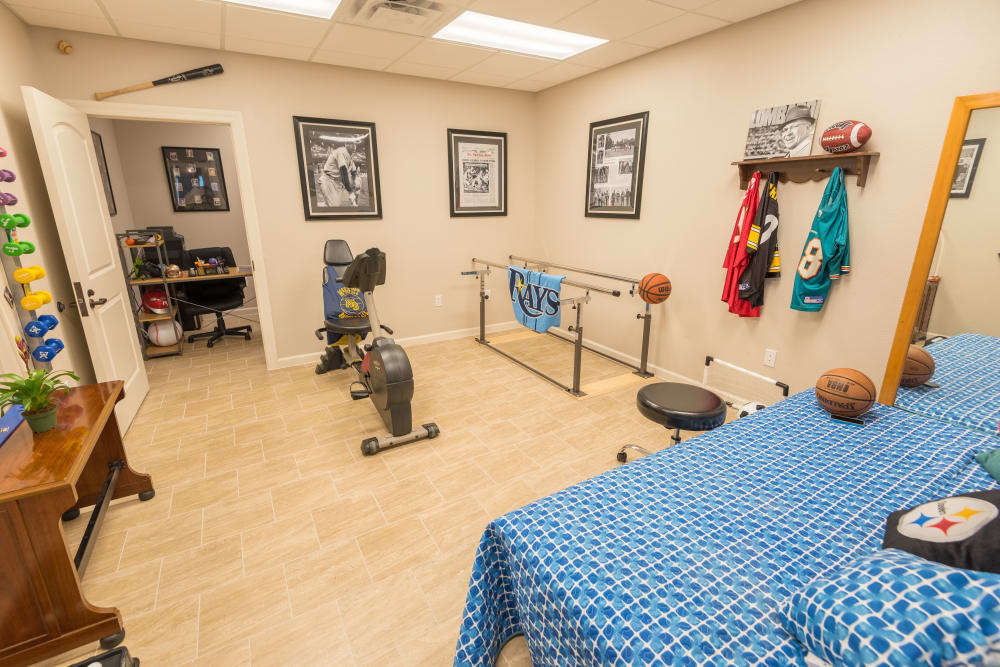 Physical therapy room at Inspired Living Ocoee in Ocoee, Florida.