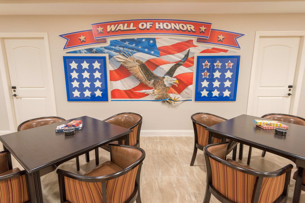 Wall of Honor at Inspired Living in Ocoee, Florida.
