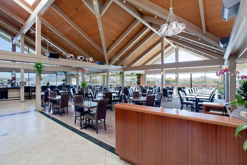 The lighthouse Bar and Grill by Harbor Point Apartments in Mill Valley, California