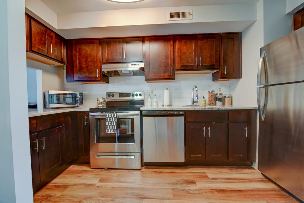 Spacious kitchen at Beacon Pointe Apartments & Townhomes in Sparrows Point, Maryland