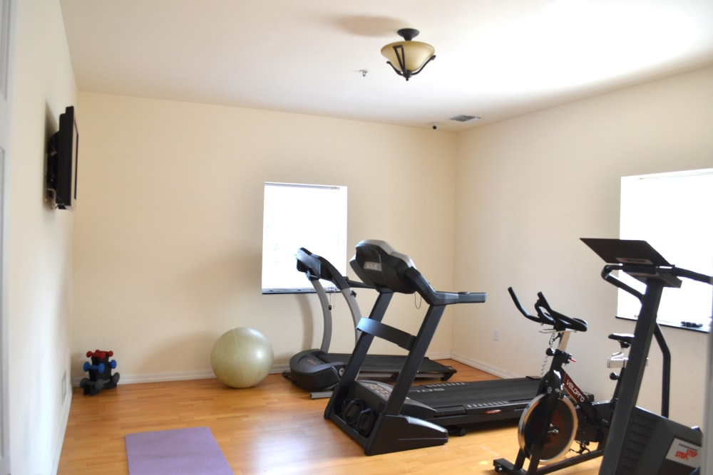 Fitness center for residents at Bunt Commons II in Copiague, New York