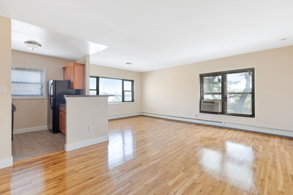 Hardwood flooring at Eagle Rock Apartments at Hicksville in Hicksville, New York