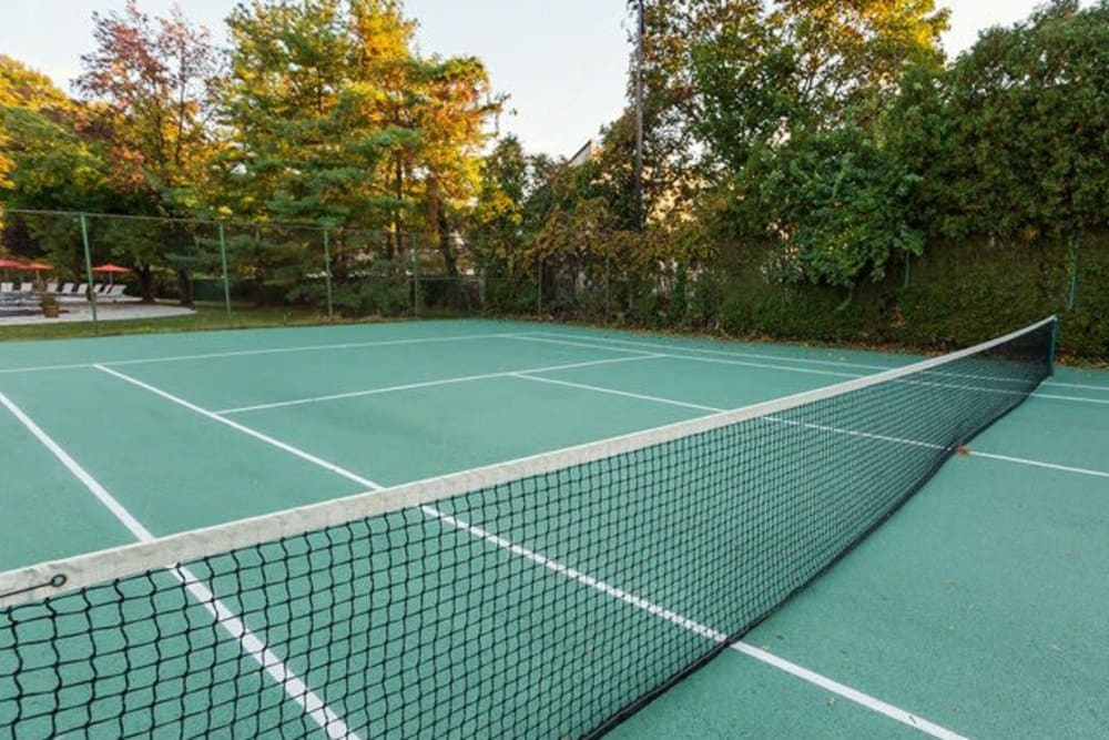 Tennis court at Chestnut Hill Tower in Philadelphia, Pennsylvania