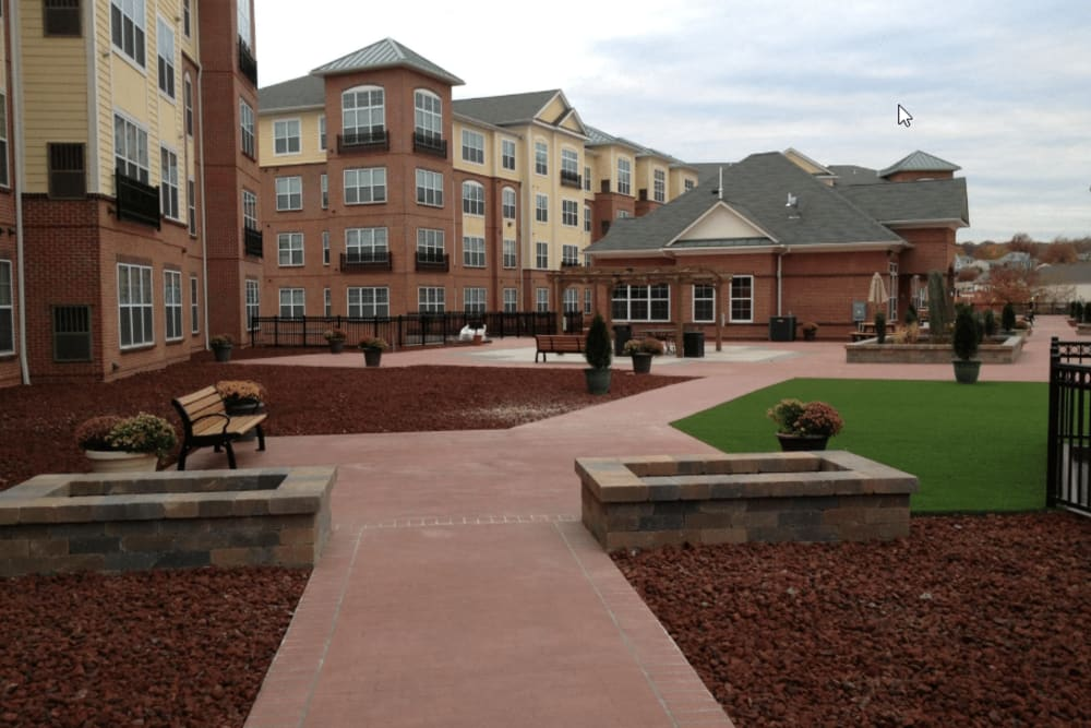 Nice walking paths at Westville Village Apartments in New Haven, Connecticut