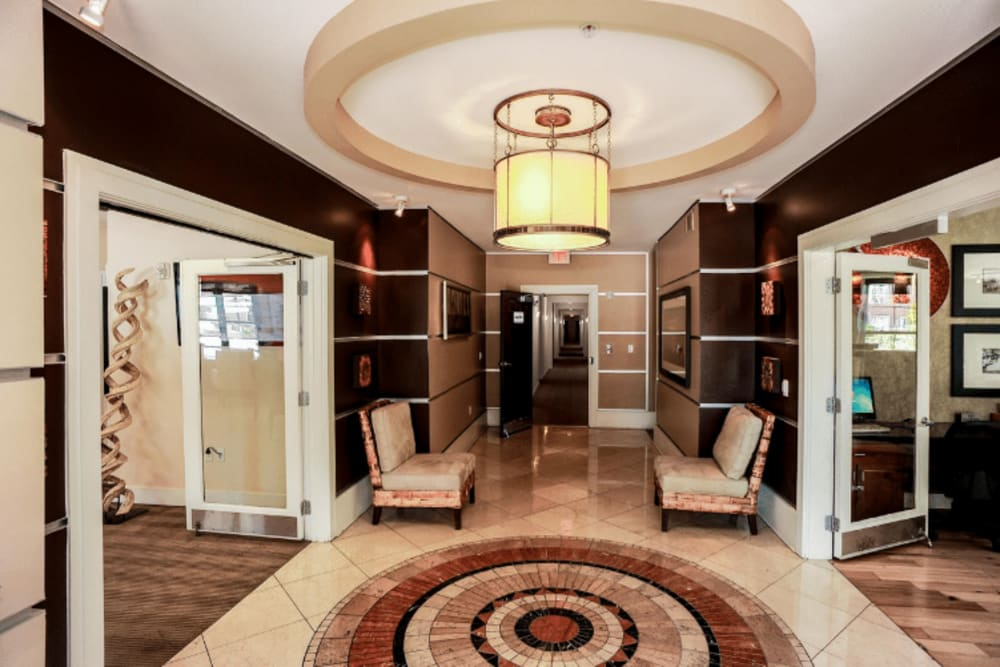 Lobby area at Westville Village Apartments in New Haven, Connecticut
