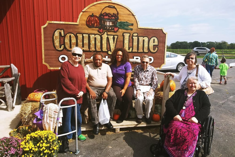 Residents on an outing from Brentwood at Hobart in Hobart, Indiana
