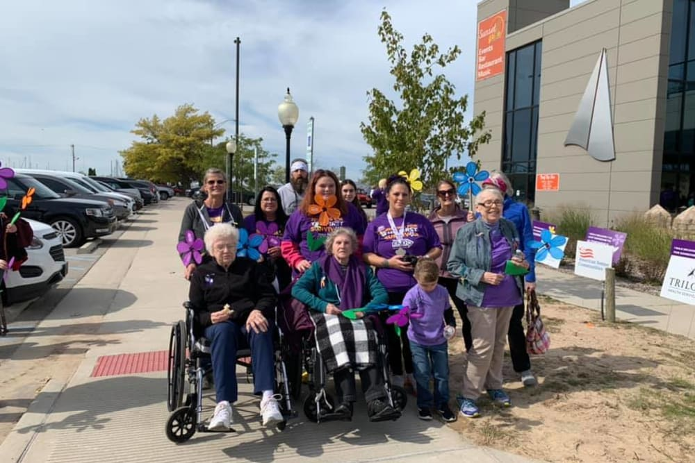 Residents on an outing at Brentwood at LaPorte in La Porte, Indiana