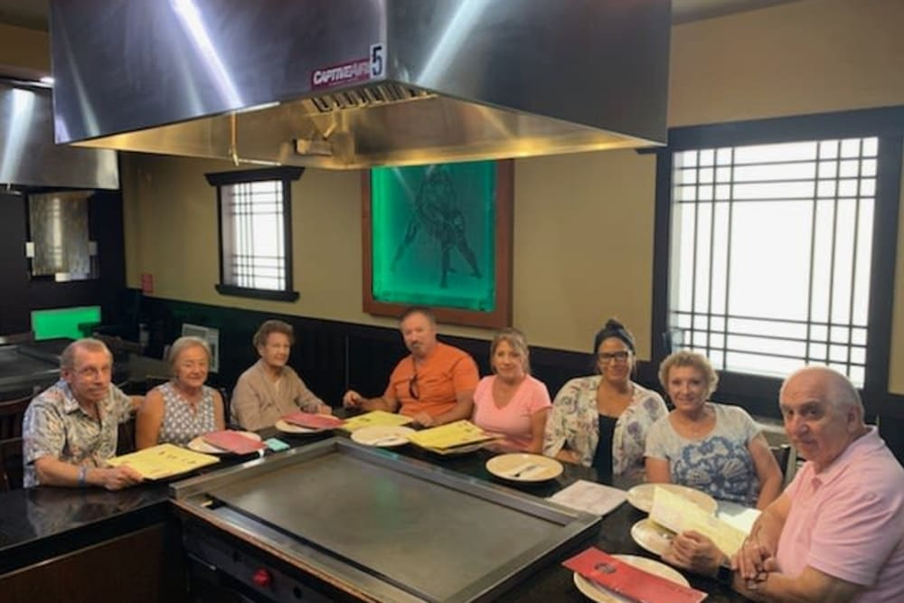 Residents out for diner at Forest Oaks of Spring Hill in Spring Hill, Florida