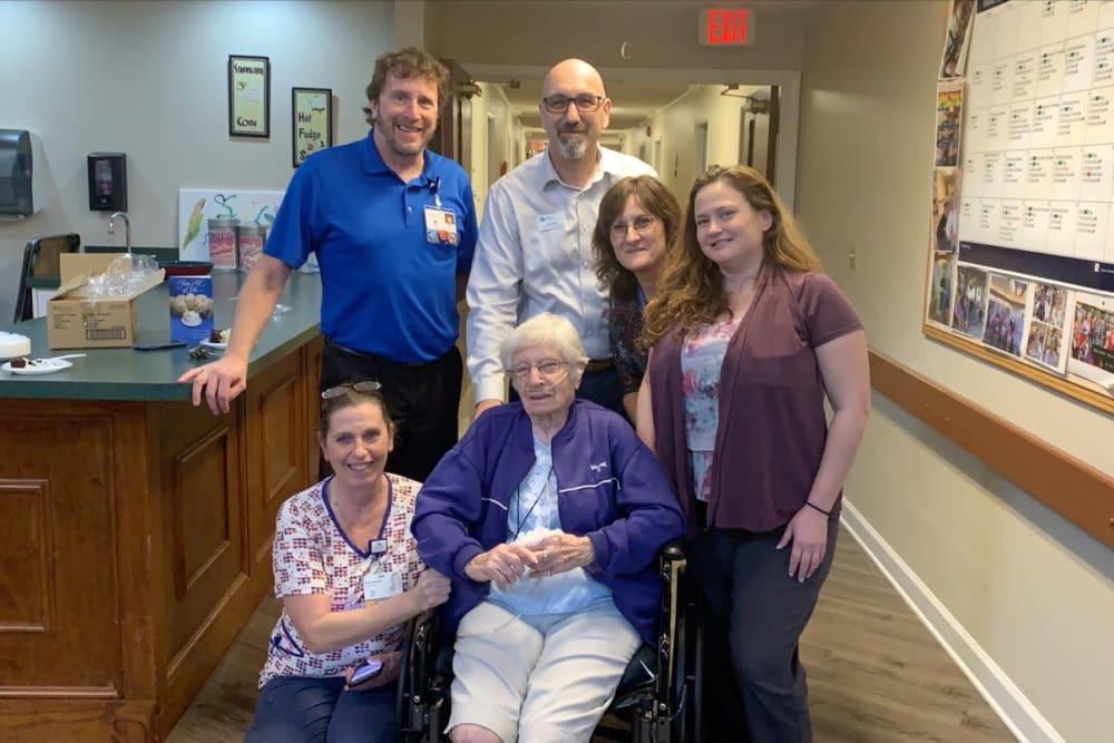 Residents and staff at Forest Oaks of Spring Hill in Spring Hill, Florida