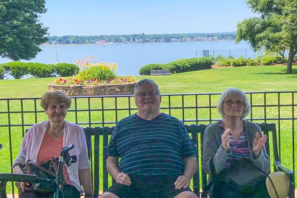 Residents enjoying some time outside at Smithfield Woods in Smithfield, Rhode Island