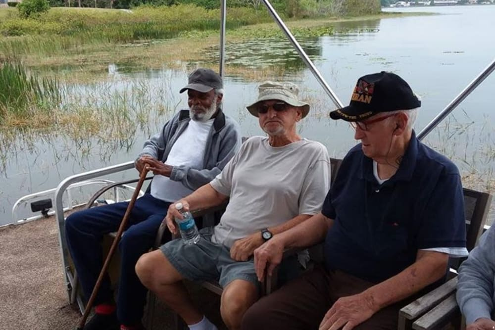 Residents on the water near Spring Haven in Winter Haven, Florida