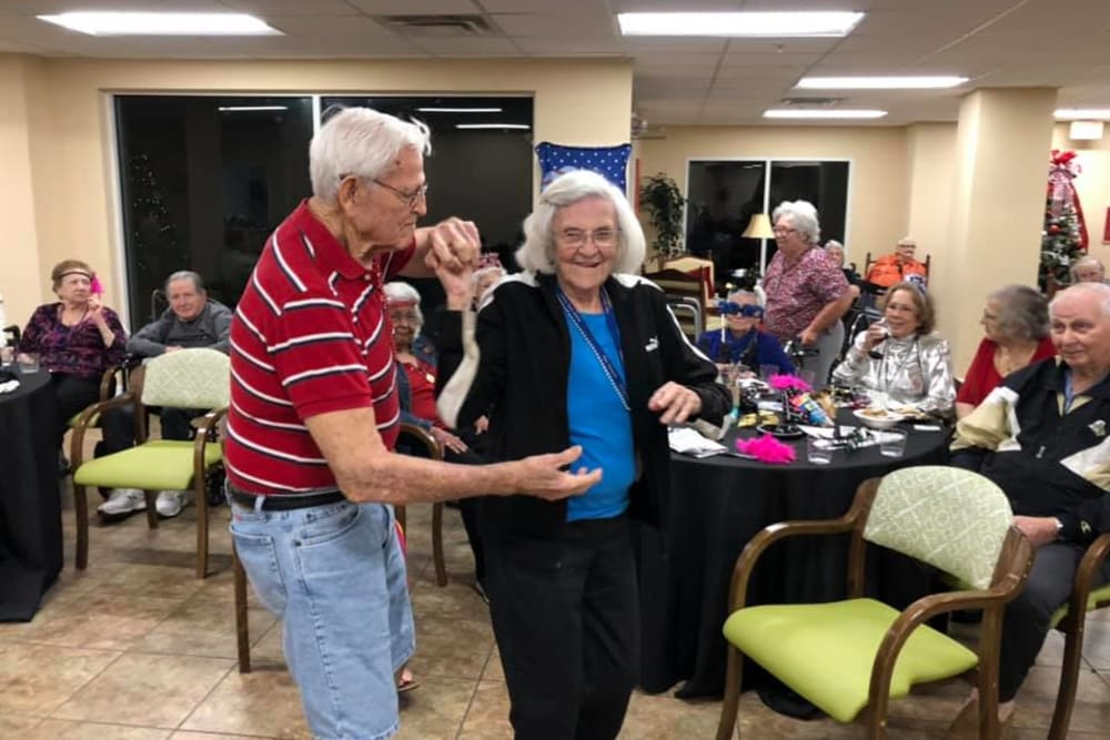 Residents dancing at The Grande in Brooksville, Florida