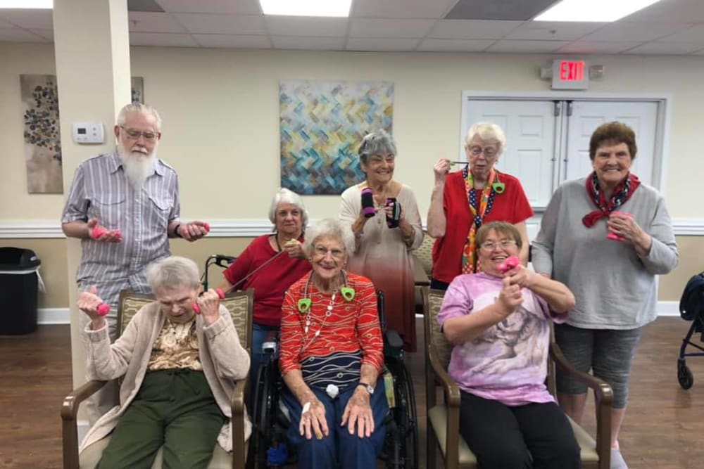 Residents exercising at The Grande in Brooksville, Florida