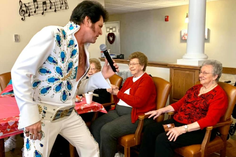 A visit from Elvis at The Villas at St. James in Breese, Illinois