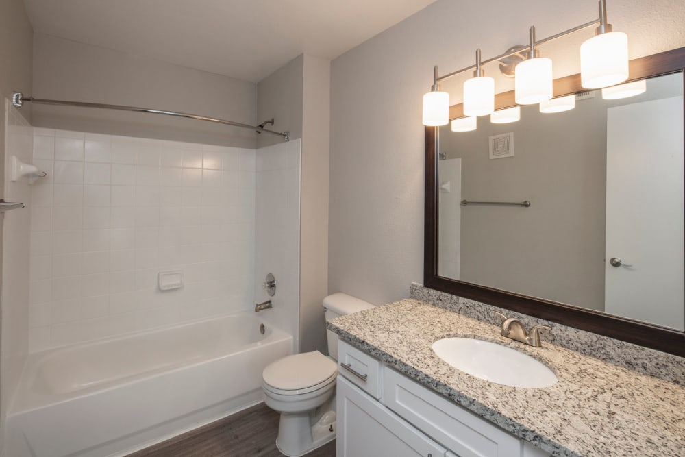 Bathroom with bathtub at IMT At The Medical Center in Houston, Texas