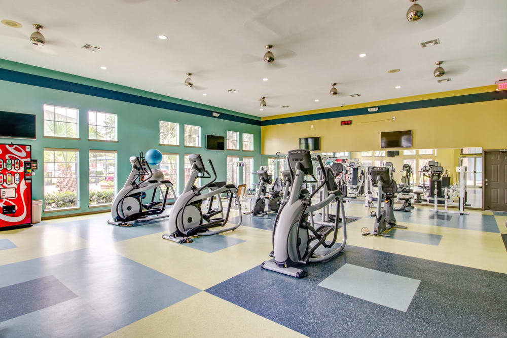 Fitness center at IMT At The Medical Center in Houston, Texas